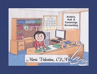 ACCOUNTANT Personalized Cartoon Person Picture People Pic Gift - Custom Matted Print 8x10 or 9x12
