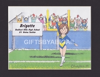 BATON TWIRLER Personalized Cartoon Person Picture People Pic Gift - Custom Matted Print 8x10 or 9x12