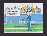 CLARINET PLAYER Personalized Cartoon Person Picture People Pic Gift - Custom Matted Print 8x10 or 9x12