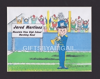 TRUMPET PLAYER Personalized Cartoon Person Picture People Pic Gift - Custom Matted Print 8x10 or 9x12