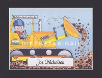 CONSTRUCTION Personalized Cartoon Person Picture People Pic Gift - Custom Matted Print 8x10 or 9x12