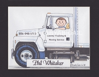 DELIVERY DRIVER Personalized Cartoon Person Picture People Pic Gift - Custom Matted Print 8x10 or 9x12