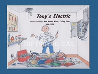 ELECTRICIAN Personalized Cartoon Person Picture People Pic Gift - Custom Matted Print 8x10 or 9x12