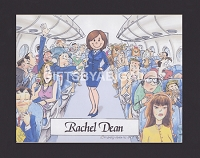 FLIGHT ATTENDANT Personalized Cartoon Person Picture People Pic Gift - Custom Matted Print 8x10 or 9x12
