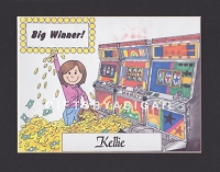 SLOT MACHINE Personalized Cartoon Person Picture People Pic Gift - Custom Matted Print 8x10 or 9x12