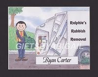 GARBAGE MAN Personalized Cartoon Person Picture People Pic Gift - Custom Matted Print 8x10 or 9x12
