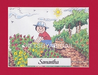 GARDENING Personalized Cartoon Person Picture People Pic Gift - Custom Matted Print 8x10 or 9x12