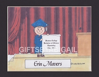 GRADUATION Personalized Cartoon Person Picture People Pic Gift - Custom Matted Print 8x10 or 9x12