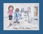 HAIR STYLIST Personalized Cartoon Person Picture People Pic Gift - Custom Matted Print 8x10 or 9x12