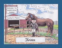 HORSE JOCKEY Personalized Cartoon Person Picture People Pic Gift - Custom Matted Print 8x10 or 9x12