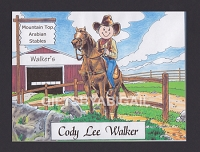 HORSE LOVER Personalized Cartoon Person Picture People Pic Gift - Custom Matted Print 8x10 or 9x12