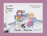 NAIL ARTIST Personalized Cartoon Person Picture People Pic Gift - Custom Matted Print 8x10 or 9x12
