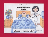 NURSE Personalized Cartoon Person Picture People Pic Gift - Custom Matted Print 8x10 or 9x12