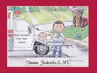 PARAMEDIC / EMT Personalized Cartoon Person Picture People Pic Gift - Custom Matted Print 8x10 or 9x12