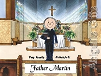 PASTOR Personalized Cartoon Person Picture People Pic Gift - Custom Matted Print 8x10 or 9x12