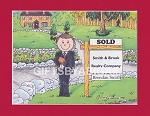 REALTOR Personalized Cartoon Person Picture People Pic Gift - Custom Matted Print 8x10 or 9x12