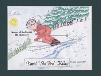 SKIING Personalized Cartoon Person Picture People Pic Gift - Custom Matted Print 8x10 or 9x12