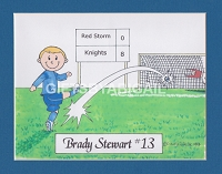 SOCCER Personalized Cartoon Person Picture People Pic Gift - Custom Matted Print 8x10 or 9x12