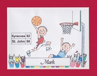 BASKETBALL Personalized Cartoon Person Picture People Pic Gift - Custom Matted Print 8x10 or 9x12