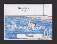 SWIMMING Personalized Cartoon Person Picture People Pic Gift - Custom Matted Print 8x10 or 9x12