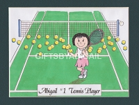 TENNIS Personalized Cartoon Person Picture People Pic Gift - Custom Matted Print 8x10 or 9x12