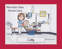 DENTAL HYGIENIST Personalized Cartoon Person Picture People Pic Gift - Custom Matted Print 8x10 or 9x12