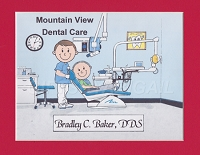 DENTIST Personalized Cartoon Person Picture People Pic Gift - Custom Matted Print 8x10 or 9x12