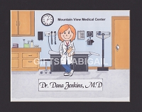 DOCTOR Personalized Cartoon Person Picture People Pic Gift - Custom Matted Print 8x10 or 9x12