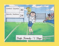 VOLLEYBALL Personalized Cartoon Person Picture People Pic Gift - Custom Matted Print 8x10 or 9x12
