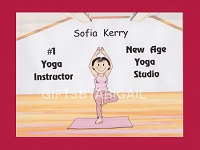 YOGA Personalized Cartoon Person Picture People Pic Gift - Custom Matted Print 8x10 or 9x12