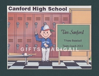 BASEBALL COACH Personalized Cartoon Person Picture People Pic Gift - Custom Matted Print 8x10 or 9x12