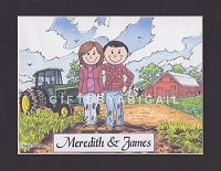 FARMER Personalized Cartoon Person Picture People Pic Gift - Custom Matted Print 8x10 or 9x12