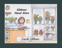 FLORIST Personalized Cartoon Person Picture People Pic Gift - Custom Matted Print 8x10 or 9x12