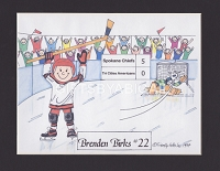HOCKEY Personalized Cartoon Person Picture People Pic Gift - Custom Matted Print 8x10 or 9x12