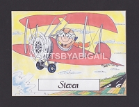 PILOT Personalized Cartoon Person Picture People Pic Gift - Custom Matted Print 8x10 or 9x12