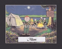 BOY SCOUT Personalized Cartoon Person Picture People Pic Gift - Custom Matted Print 8x10 or 9x12
